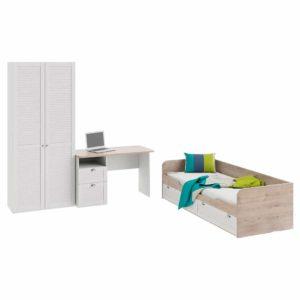 Набор детской мебели «Ривьера» стандартный (Дуб Бонифацио/Белый)  доставки и установка